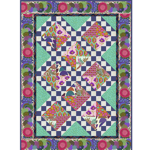 Jade Song and Dance Lap Quilt featuring Bright Eyes