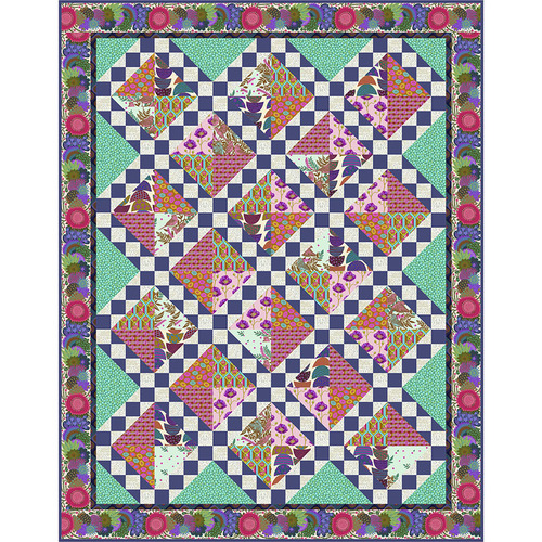 Jade Song and Dance Twin Quilt featuring Bright Eyes