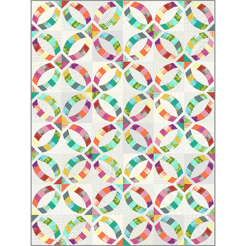 Metro Rings Quilt featuring Mod Cloth