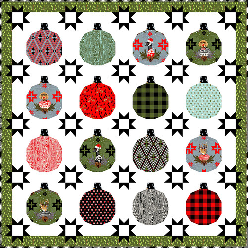 Hanging Out with the Homies Quilt featuring Holiday Homies Flannel