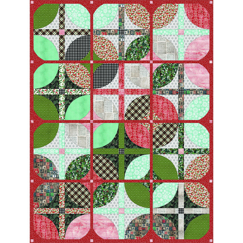Courtyard Quilt featuring Christmastime