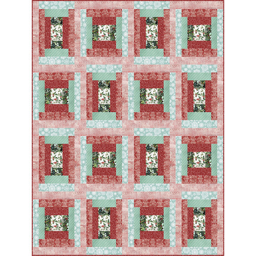 Homestead Mint Chip Quilt featuring Christmastime