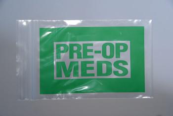 4X6 2MIL SEALTOP GREEN PRE-OP MEDS