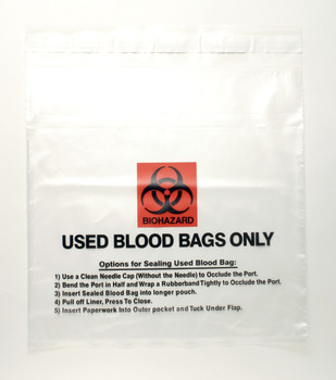 10X10 2MIL USED BLOOD TRANSPORT BAG