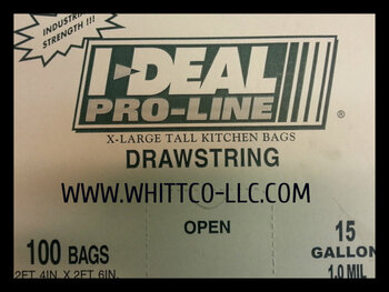 White  tall kitchen Drawstring bags heavy duty 1.0 mil (IBS-CPR015-WB