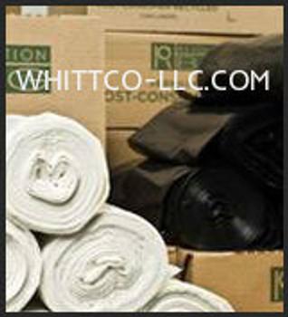 PC44100BK 9 Mil. 44  PCan Liners - Trash bags -Revolution bag Company EPA- LEED- Sustainability