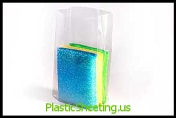 Gusseted Poly Bags 1.5 mil  4X2X8X0015 1000/CTN  #1400  Item No./SKU