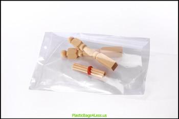 Layflat Poly Bags 1 mil  4X4X001 1000/CTN  #2210  Item No./SKU