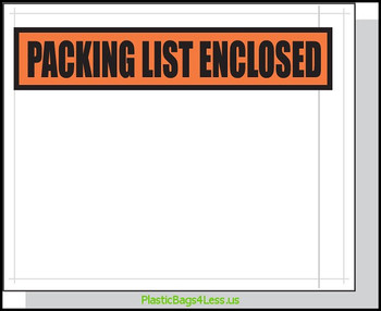 Packing List Envelopes  4.5X5.5 1000/Case Printed  #3855  Item No./SKU