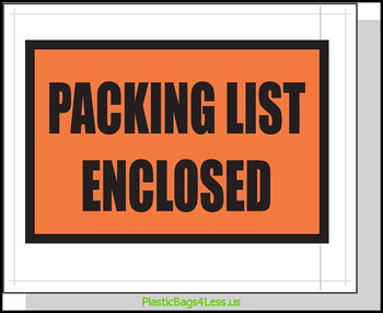 Packing List Envelopes  4.5X5.5 1000/Case Printed  #3860  Item No./SKU