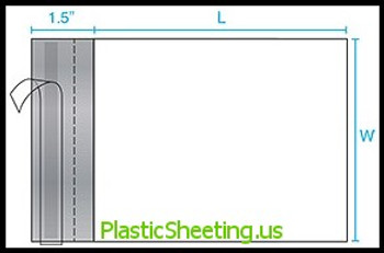 Poly Mailers - Perforated, 2.5 Mil P-Mailer 14X17X0025 500/Case  #5112  Item No./SKU