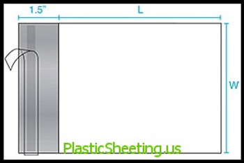 Poly Mailers - Not Perforated, 2.5 Mil No Perf P-Mailer 10X13     #5165  Item No./SKU