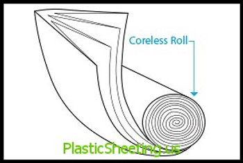 Coreless  HDPE Liners 6 Microns 24x24 6 Mic, 50Bags/Roll 20Rolls 1000Bags/Case, HD Liners Coreless  #5841  Item No./SKU