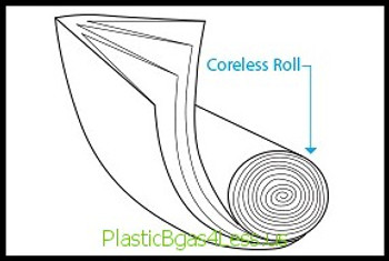 Coreless  HDPE Liners 16 Microns 43x48 16 Mic, 20Bags/Roll 10Rolls 200Bags/Case, HD Liners Coreless  #5857  Item No./SKU