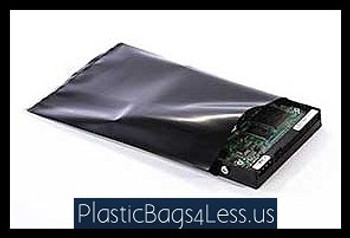 Black Conductive Bags 4 mil  10X14X004 BLK CON 100  #6545  Item No./SKU