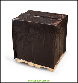 Black Pallet Top Covers with UVI/UVA 3 mil  51X49X85X003, UVI      #10912  Item No./SKU