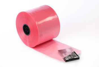 Pink Antistatic Tubing Amine-free 4 mil   32 X 004 AMINE FREE  #12550  Item No./SKU