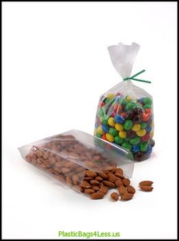 Gusseted Polypropylene Bags 1.5 mil 2.5X1.25X7.5X0015  #13105  Item No./SKU