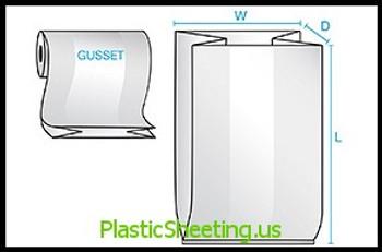 Gusseted Bags on a Roll 1 mil  8X3X15X001 1000/RL  #1380R  Item No./SKU