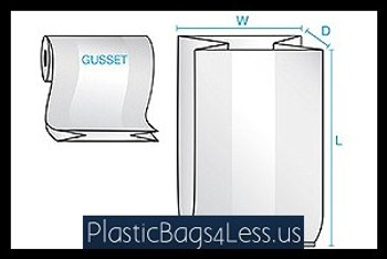 Gusseted Bags on a Roll 1.5 mil  6X3X12X0015 1000/RL  #1417R  Item No./SKU