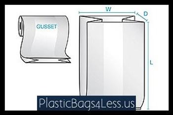 Gusseted Bags on a Roll 3 mil  30X26X60X003 50/RL  #1785R  Item No./SKU