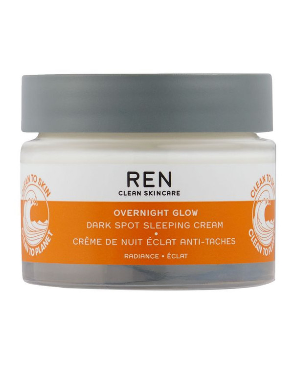 Ren Clean Skincare  Overnight Glow Dark Spot Sleeping Cream - Clinically proven to reduce the appearance of dark spots from 7 days