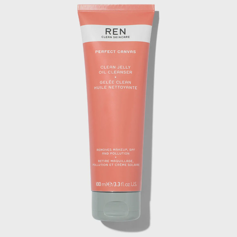Ren Clean Skincare Perfect Canvas Clean Jelly Oil Cleanser - makeup-removing oil-based jelly cleanser.
