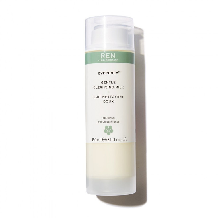 Ren Clean Skincare Evercalm™ Gentle Cleansing Milk -Hydrating, makeup-melting comforting cleanser.