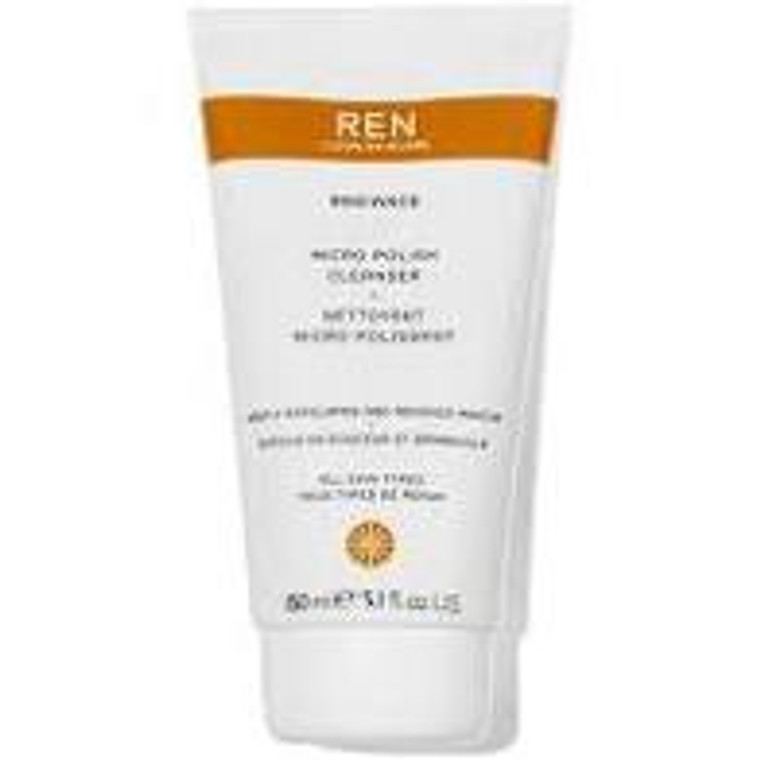 Ren Clean Skincare Micro Polish Cleanser -  Gently exfoliating, energizing face wash.