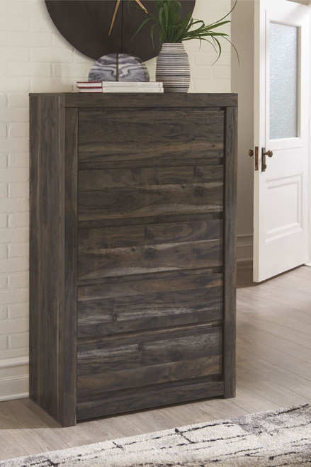 Vay Bay Charcoal Five Drawer Chest