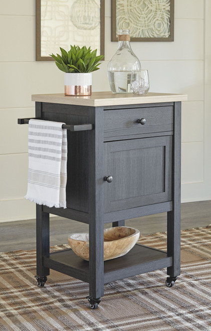 Boderidge Black Bar Cart