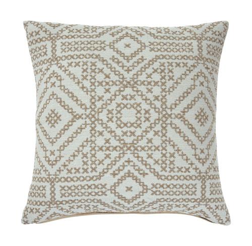 Jermaine Cream/Taupe Pillow (4/CS)