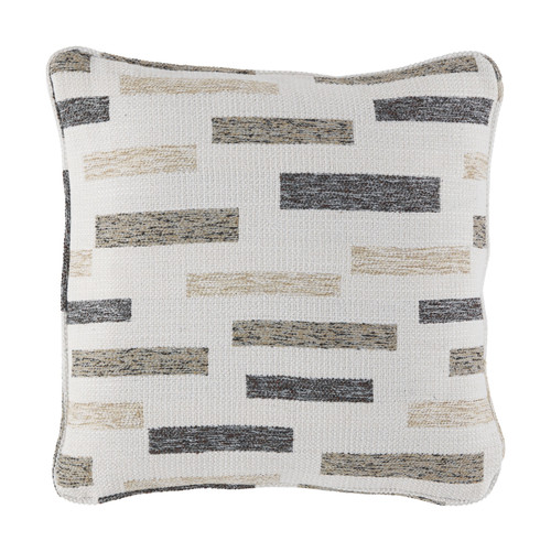 Crockett Black/Brown/Cream Pillow  (4/CS)