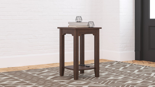Camiburg Warm Brown Chair Side End Table