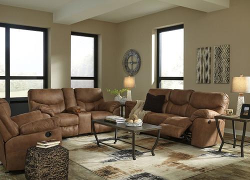 Boxberg Bark Reclining Sofa, Double Reclining Loveseat with Console & Rocker Recliner