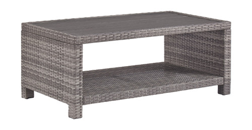Salem Beach Gray Rectangular Cocktail Table