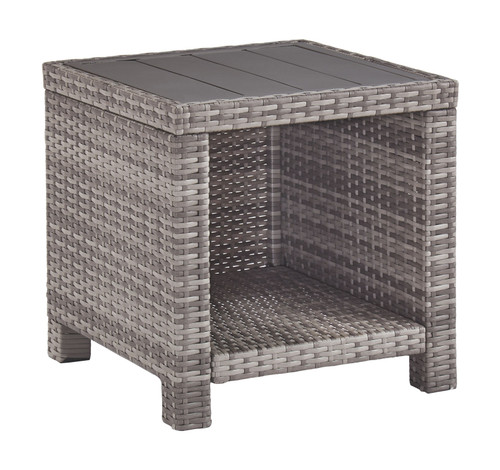 Salem Beach Gray Square End Table