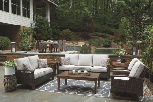 Paradise Trail Medium Brown Lounge Set