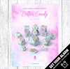 Cotton Candy Origins 14pc Polyhedral Dice Set