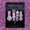 Transcendence Metallic Mauve Ink Mystics 14pc Dice Set With Kraken Logo
