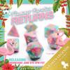 Flamingo Paradice  RPG 11pc Dice Set In Pink & Teal Blue