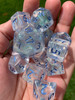 Frost Fairy Blue Shimmer 12pc Metallic Blue Ink Dice Set