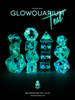 Glowquarium Teal 12pc Polyhedral Dice set with Glow in the Dark Particles