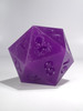 RAW 55mm Glow in the Dark Purple D20
