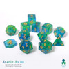 Starlit Swim 12pc DnD Dice Set With Kraken Logo
