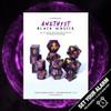 Amethyst Black Magick 12pc DnD Dice Set With Kraken Logo