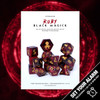 Ruby Black Magick 12pc DnD Dice Set With Kraken Logo