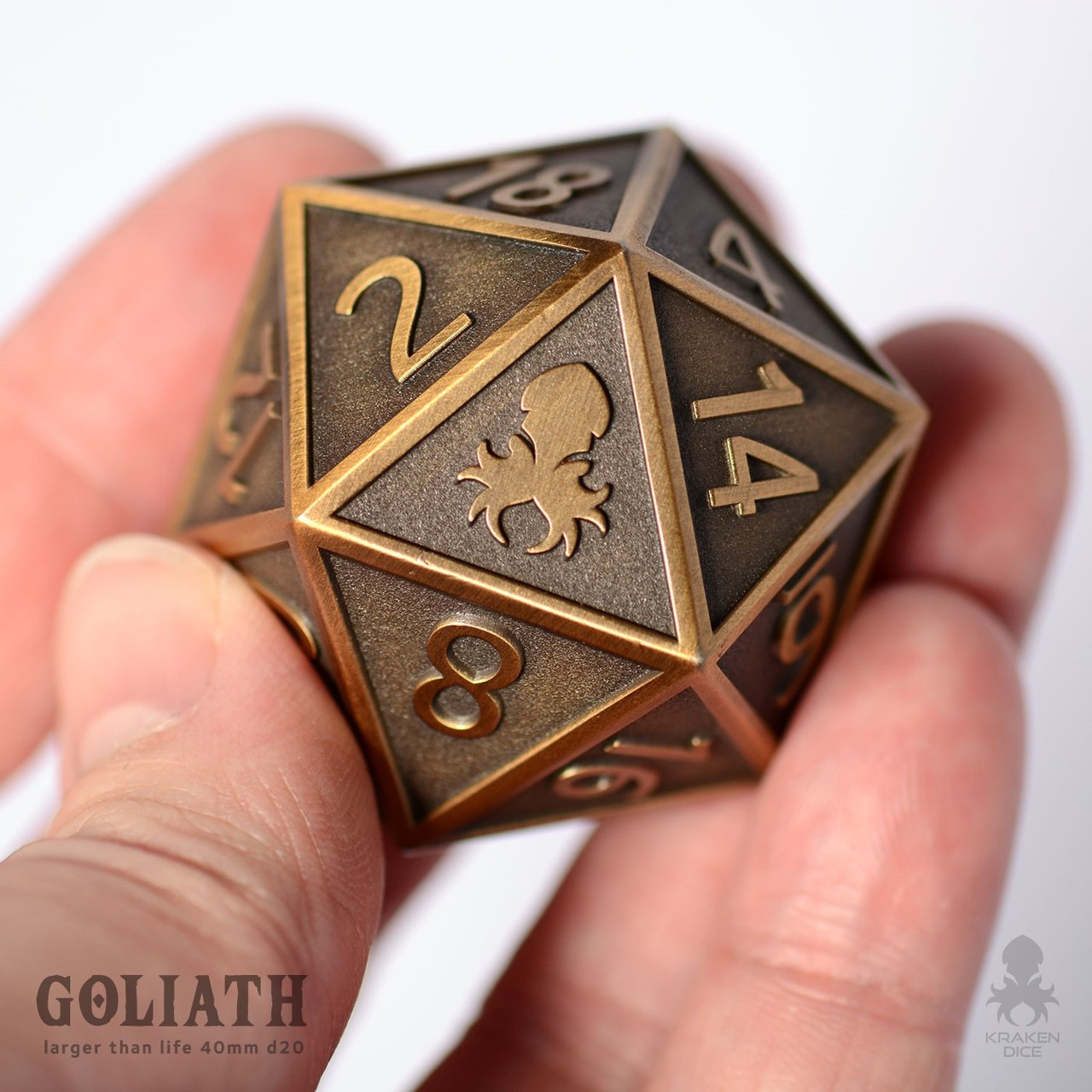 Brass Goliath Single D20 For Dungeons And Dragons