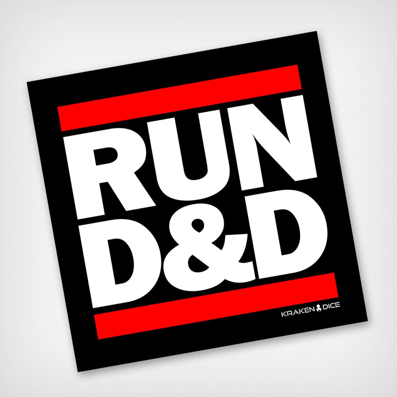 Run dd kraken branded sticker