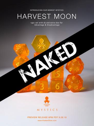 Harvest Moon 14pc Naked Dice Set With Kraken Logo